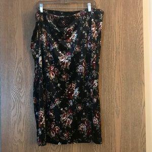 ❤️ Pretty lightweight velvet skirt 3X